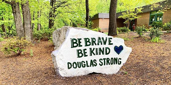 spirit rock at Douglas Elementary School in Raleigh, N.C.