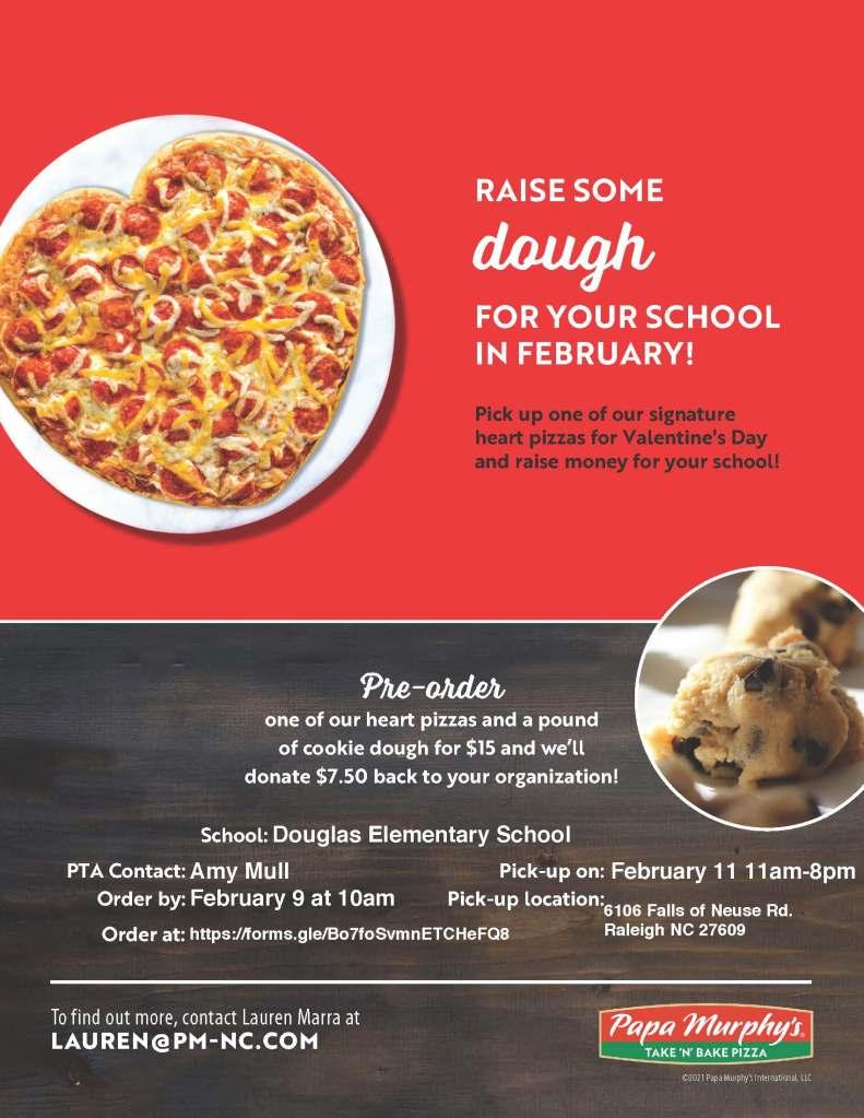 Papa Murphy's flyer for Douglas Elementary fundraiser